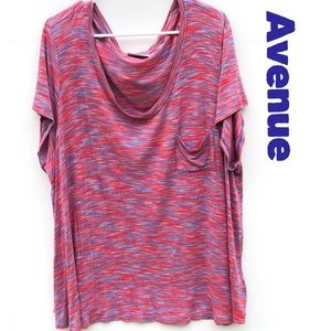 Avenue 22/24W  Front Pocket Scoop Neck Tee